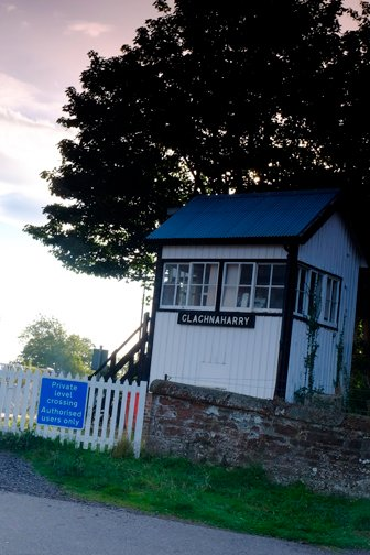 Historic signal box on the Inverness to Beauly local railway line.