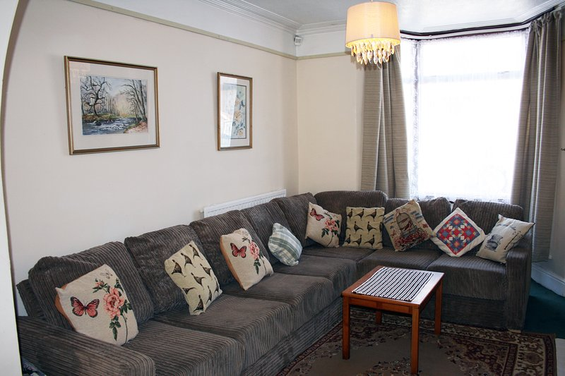 Comfy sitting room.