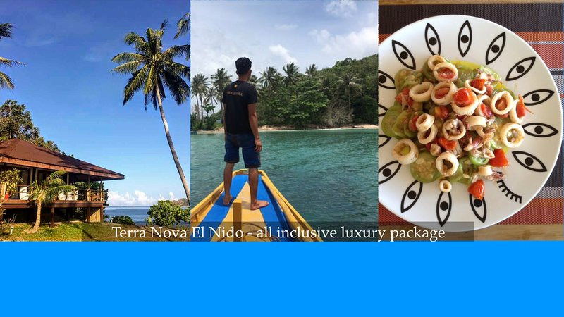 TERRA NOVA EL NIDO Large Luxury Villa - ALL INCLUSIVE  W/ PRIVATE ISLAND TOURS, holiday rental in Palawan Province