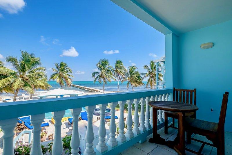 Lower level balcony/veranda off the living/dining room