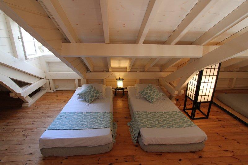 Mezzanine - área infantil - 2 camas de 90 x 190 - fã