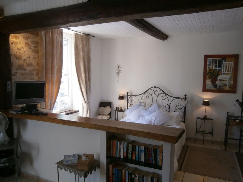 Romantic, bright and spacious studio apartment in Saint-Chinian, holiday rental in Saint-Chinian