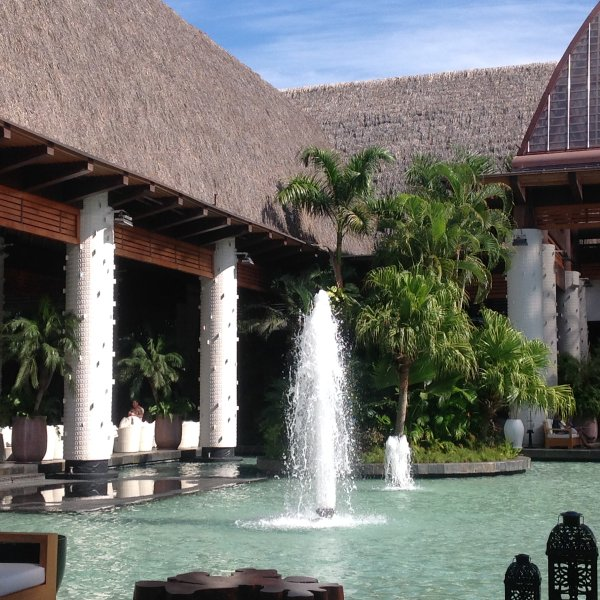 Fountains at Nuevo Vallarta Central transportation and entertainment center