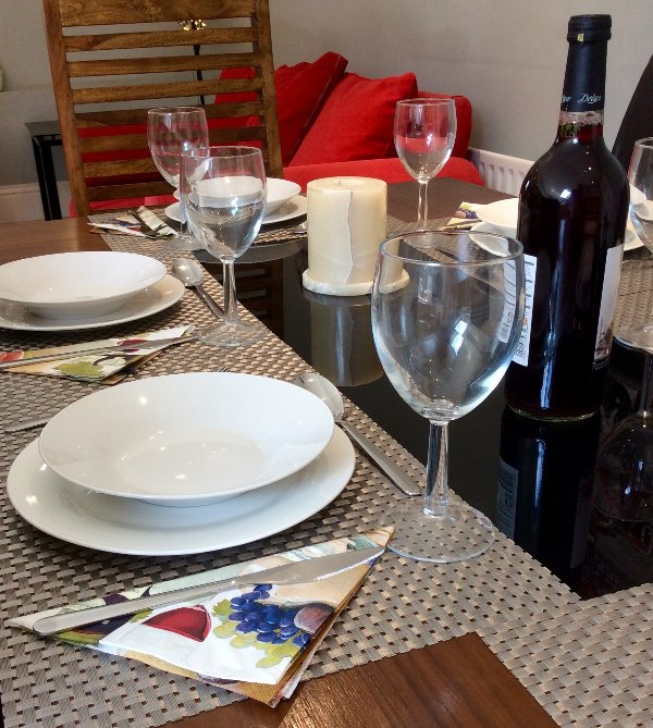 Dining in two bedroom apartment