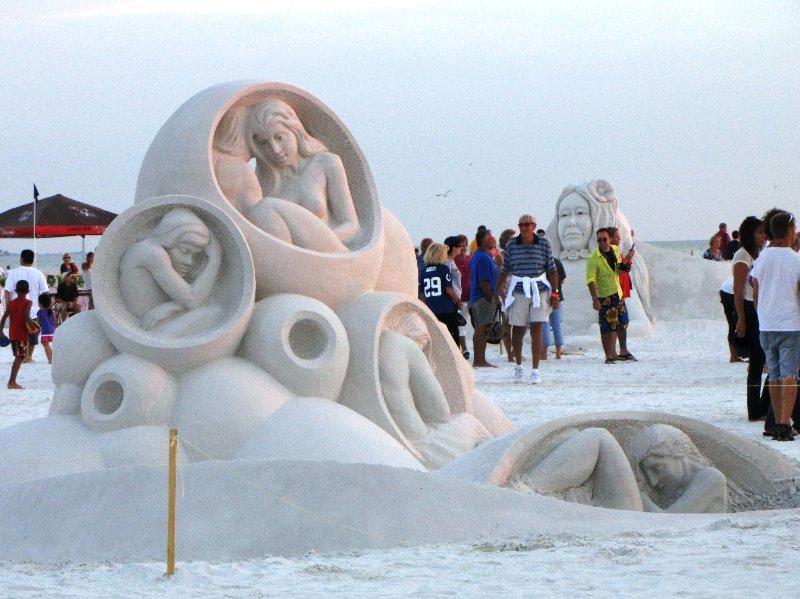 Concurso anual de castillos de arena en Siesta Key