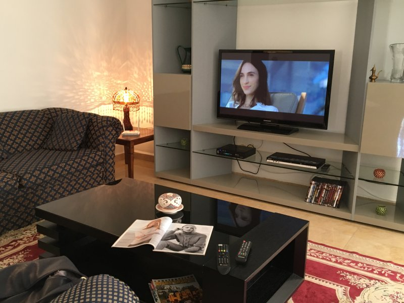 Lounge, satellite TV, DVD