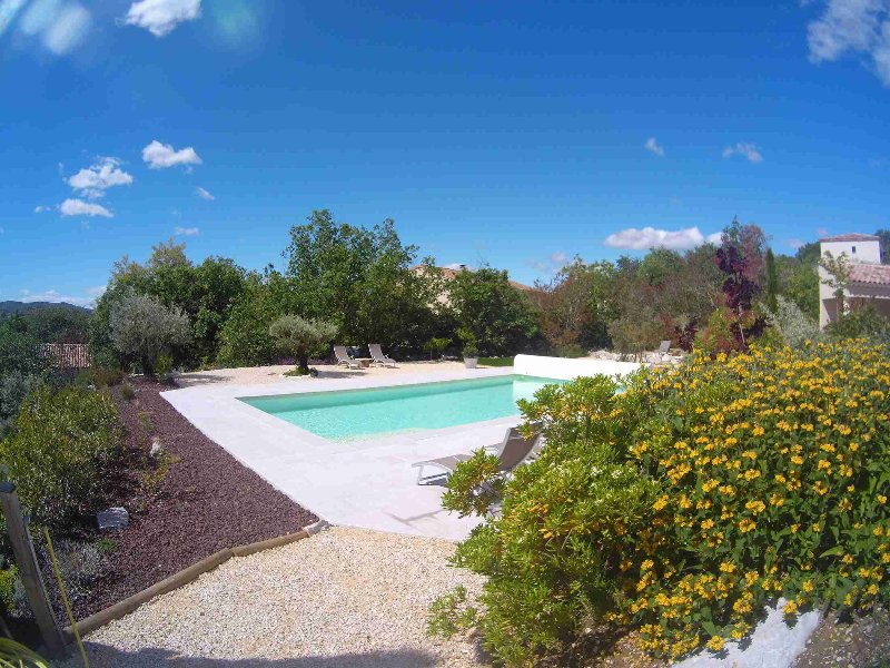 Pool and garden of Mas Molines