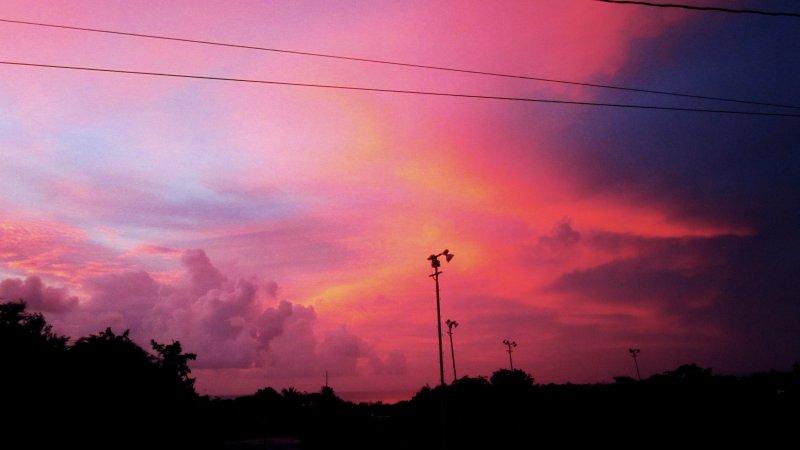 tramonto visto dal balcone