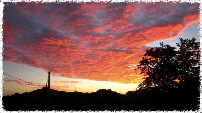 alba vista dal balcone