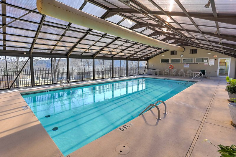 In winter months, pool fun is still available at the indoor pool.