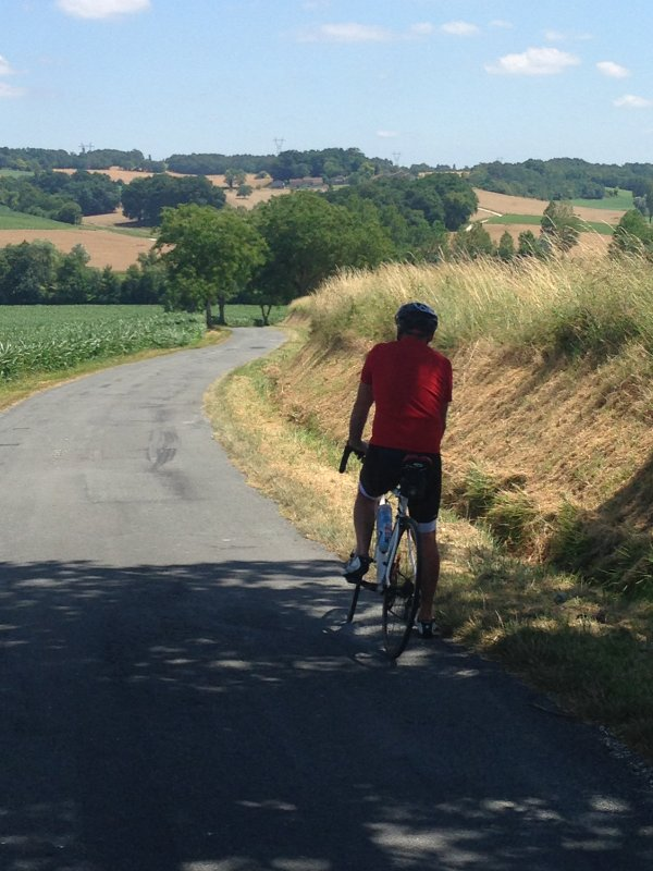 Fantastic cycling on very quiet roads.