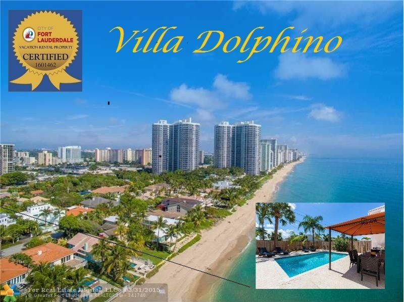 3BR Luxury Villa Dolphino on the Beach * 5 star *, holiday rental in Fort Lauderdale