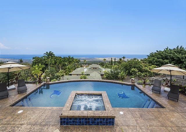 You may not want to leave with this pool and view combo!