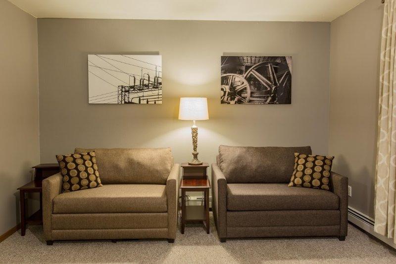 Lambton Flats #3 -  Living room -  Sofa Sleepers Two Single Beds