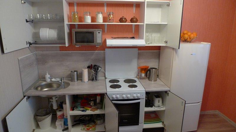 Kitchen with accessories