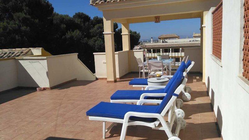 Penthouse apartment, Senorio de Roda, Roda Village, near Los Alcazares, alquiler de vacaciones en San Cayetano