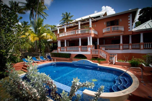 Your Caribbean Seaside  Home has 7 bedrooms  that could sleep up to 14 adults + 2 kids comfortably