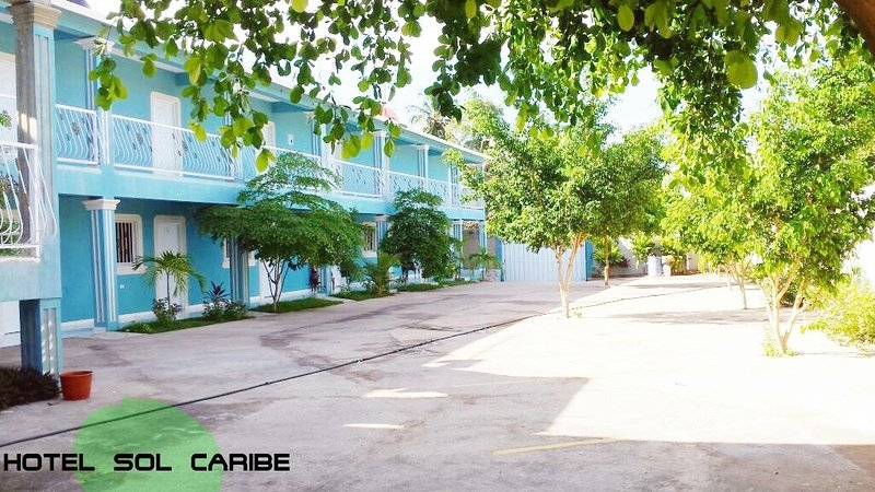 Sol Caribe Hotel, features spacious rooms, comfortable beds, private bathroom, air conditioning