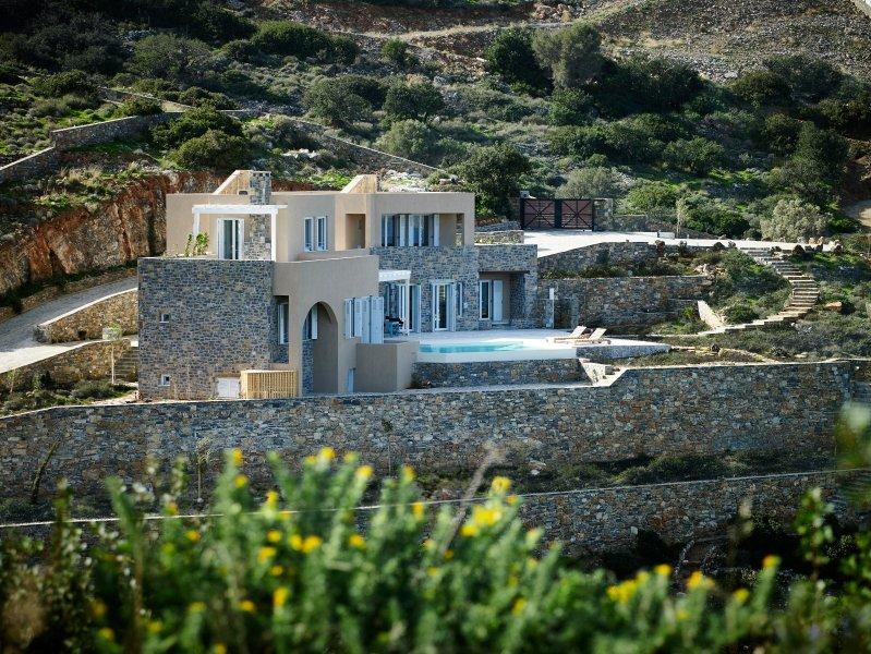 Overlooking the villa..