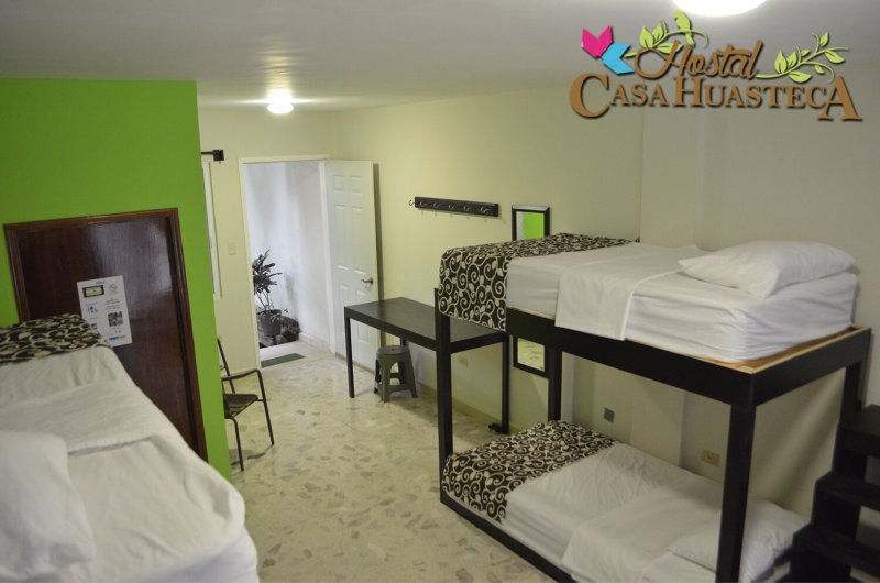 shared room for 8 people with private bathroom, climate and wifi.