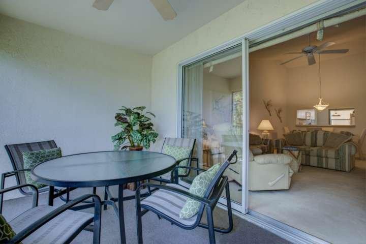 Malla de patio proporciona aire fresco y la oportunidad de escuchar el canto de los pájaros - alfombra en la sala de estar se ha sustituido por un piso nuevo y la nueva Couc