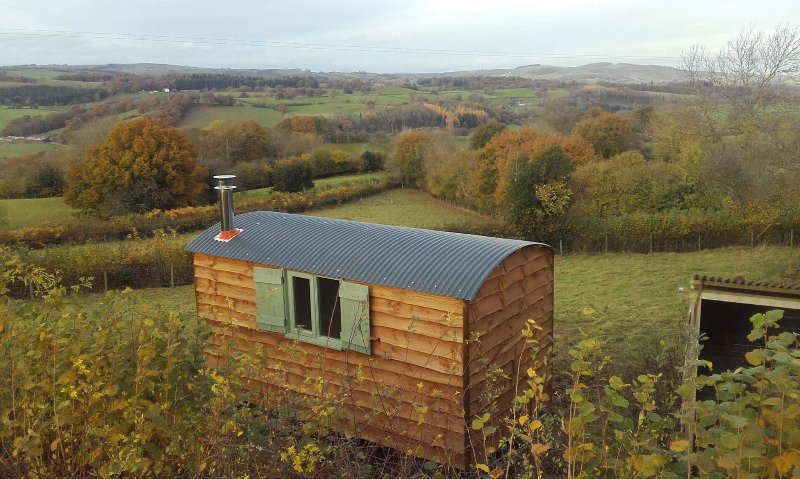 Stunning views across the rolling hills of Mid-Wales and Shropshire