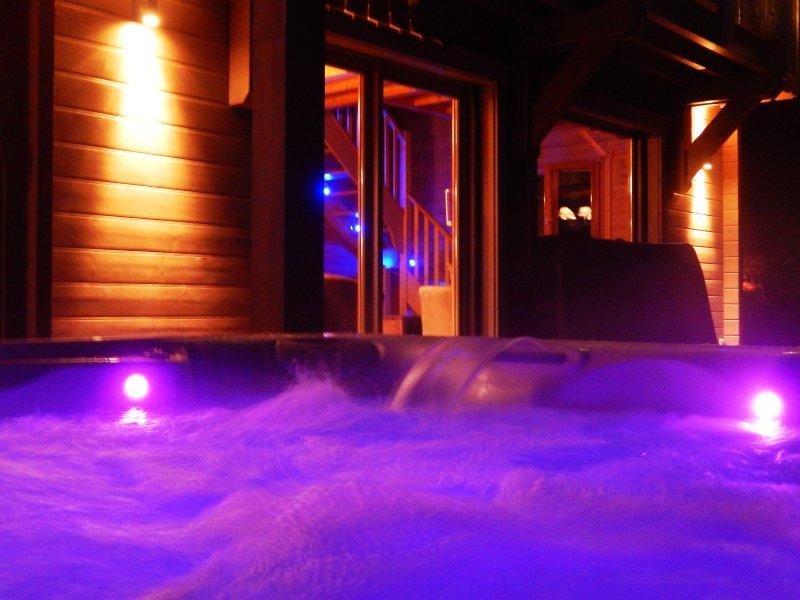 spa en hiver de nuit