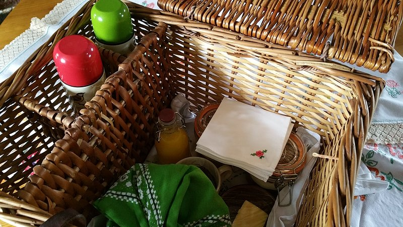 ...or a basket of breakfast goodies delivered to the hut.
