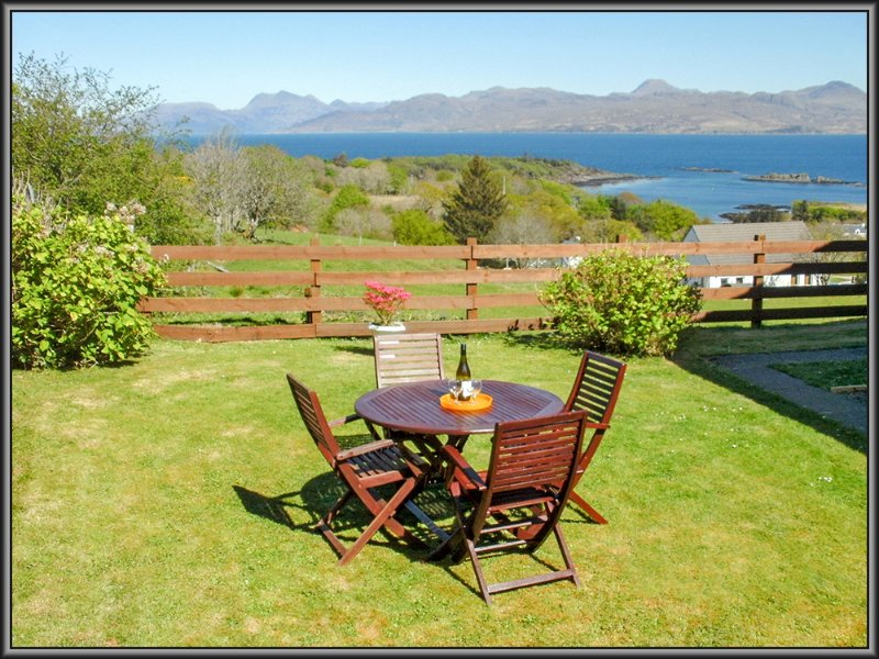 Relax in Loch Hourn cottage garden.