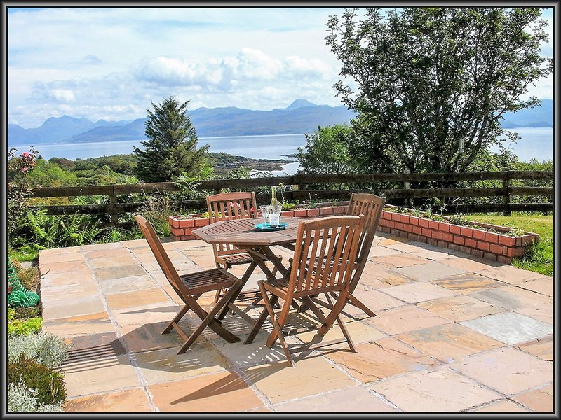 Relax on Loch Nevis cottage Patio.