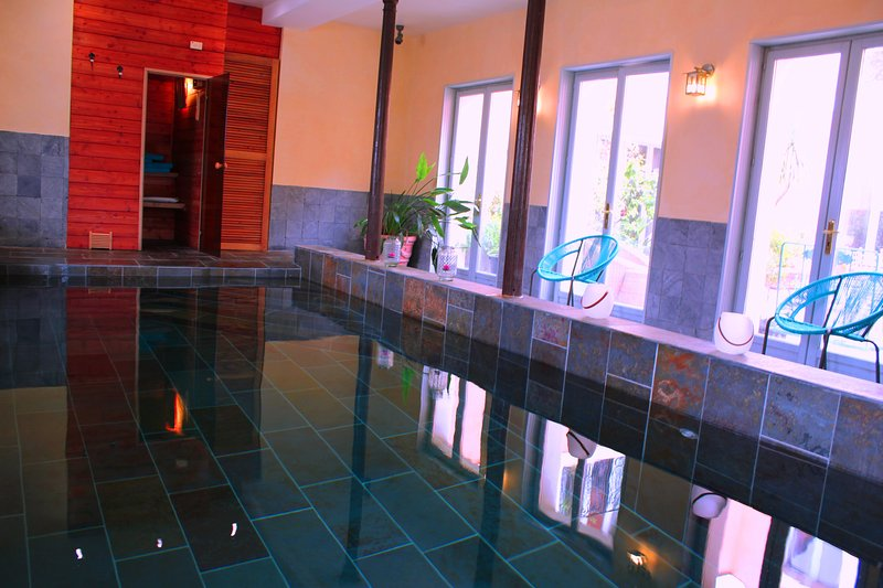 la grenade bleue chambre d'hôte piscine-spa sauna, holiday rental in Saint Seurin de Palenne