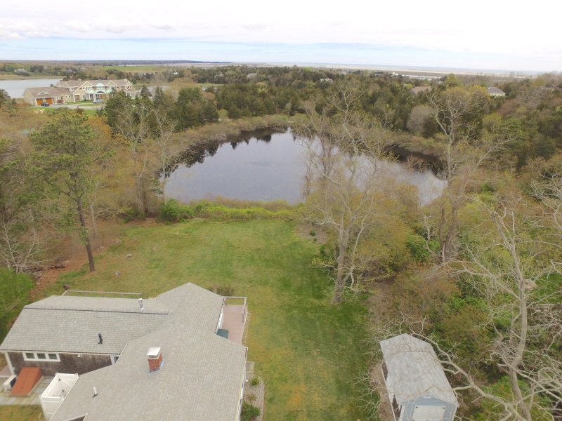 Aerial view of Home and Kettle Pond