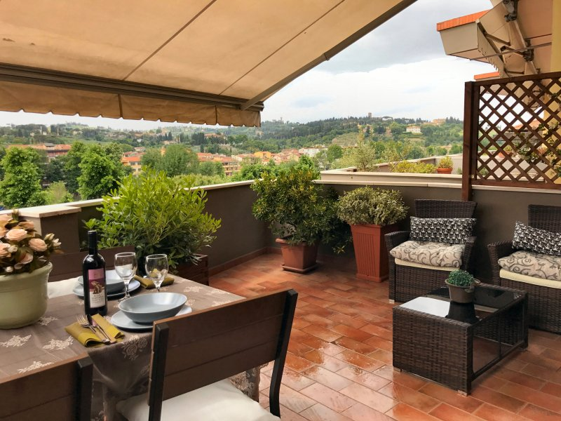 You can have lunch on the panoramic terrace or have a glass of Italian wine in the evening.