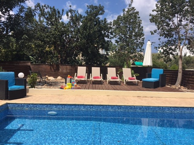 Lots of sun on the garden and pool area of Sun-n-Sea Villa 7 Crystal Lagoon. Bliss....