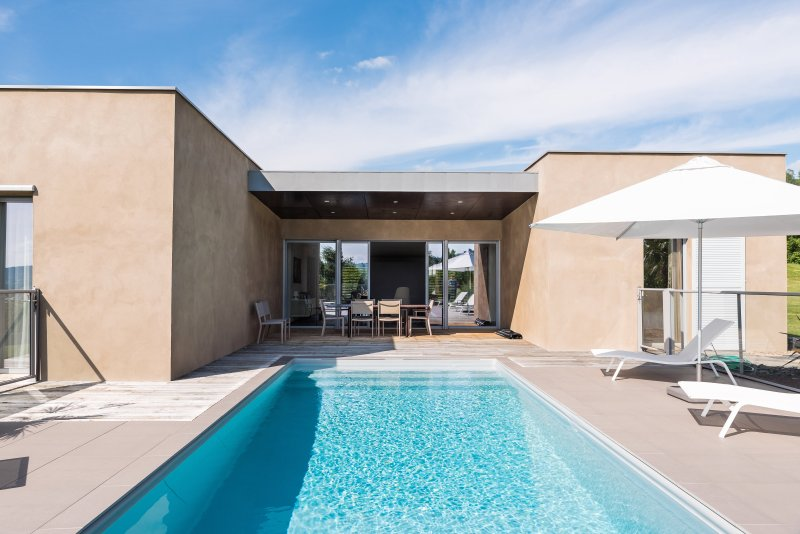 The villa with private heated pool and private spa