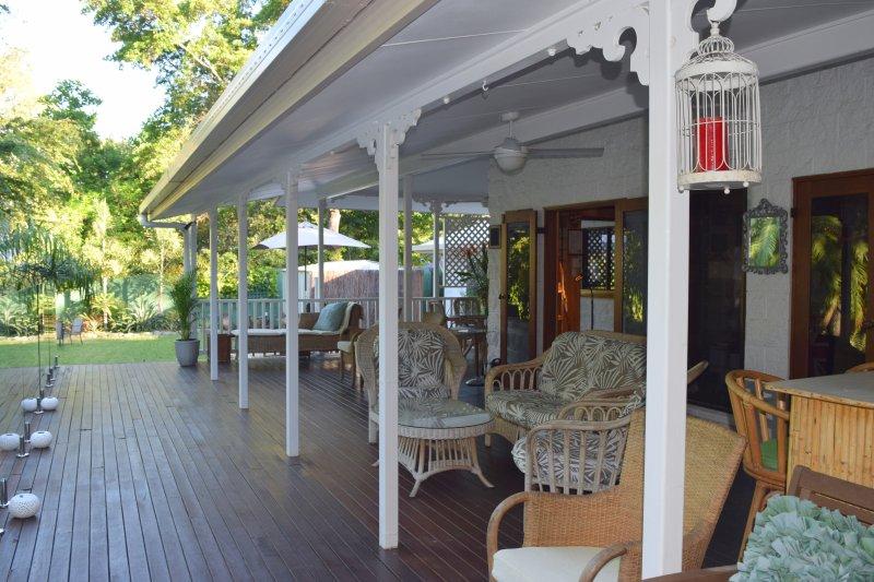 Back veranda.