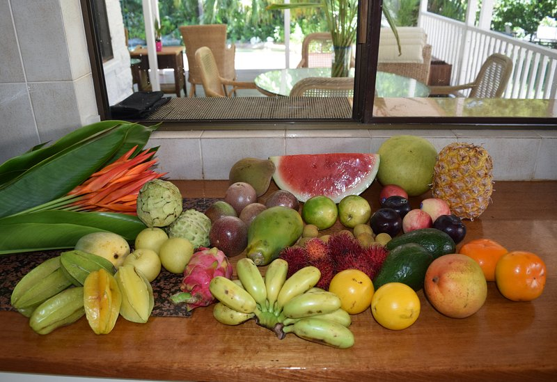 Fantastic Tropical fruit for breakfast.