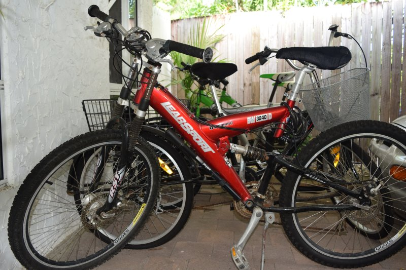 Free bikes for the guests.