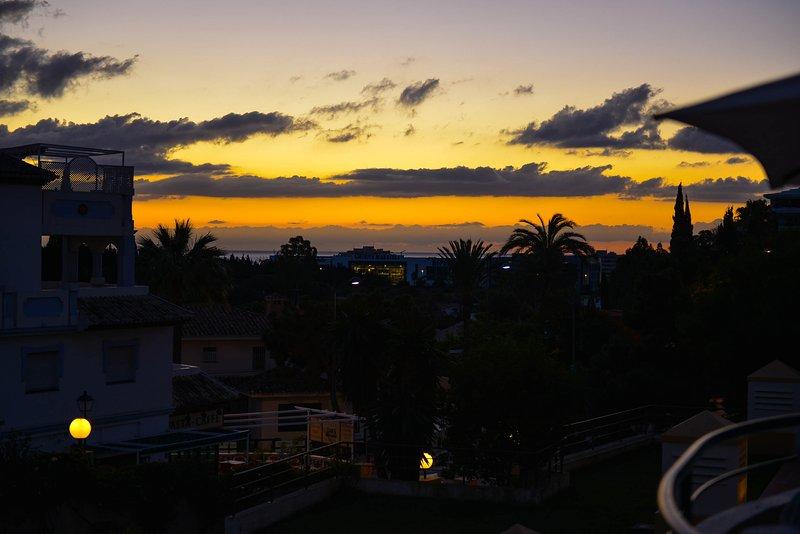Pôr do sol a partir do terraço do leste