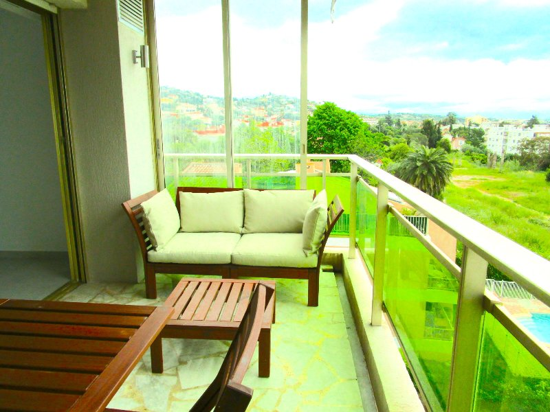 Main balcony with view to the Alps