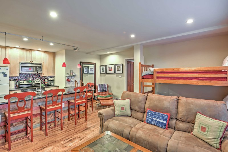 Experience Kirkwood from this 1-bedroom, 1-bathroom vacation rental condo!