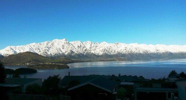winter uitzicht van Mountain Vista