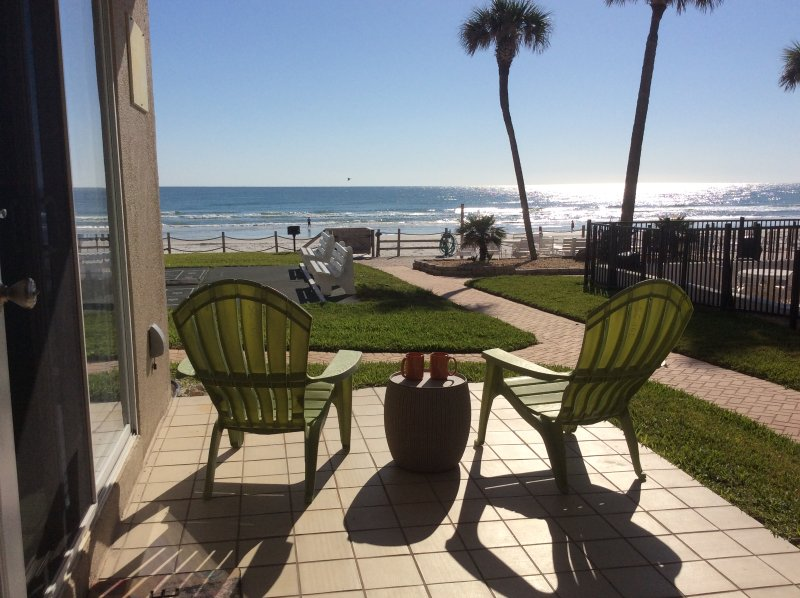 Direct Ocean Front * 1st Floor Walkout * NO-Drive Beach - W/D - SeaCoast, holiday rental in New Smyrna Beach