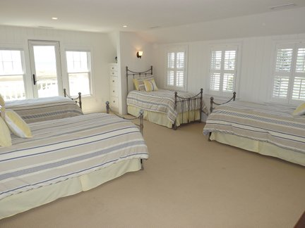 Second Floor Master w/Four Twin Beds and Private Deck