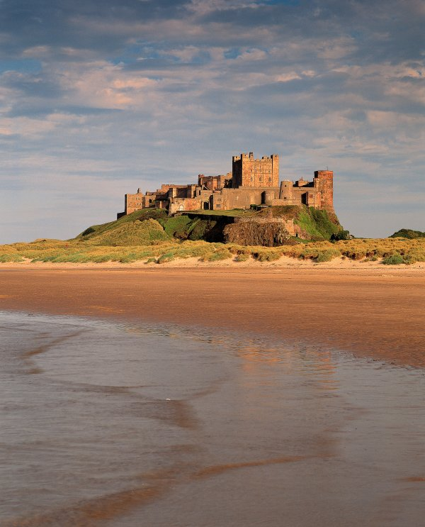 Nearby Bamburgh castle