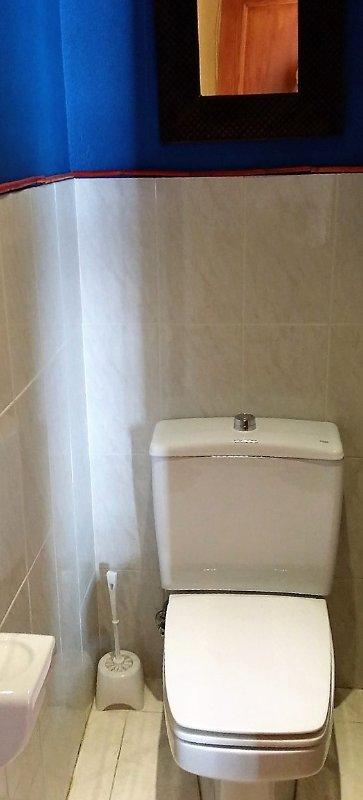 Baño, taza water separada de zona de baño