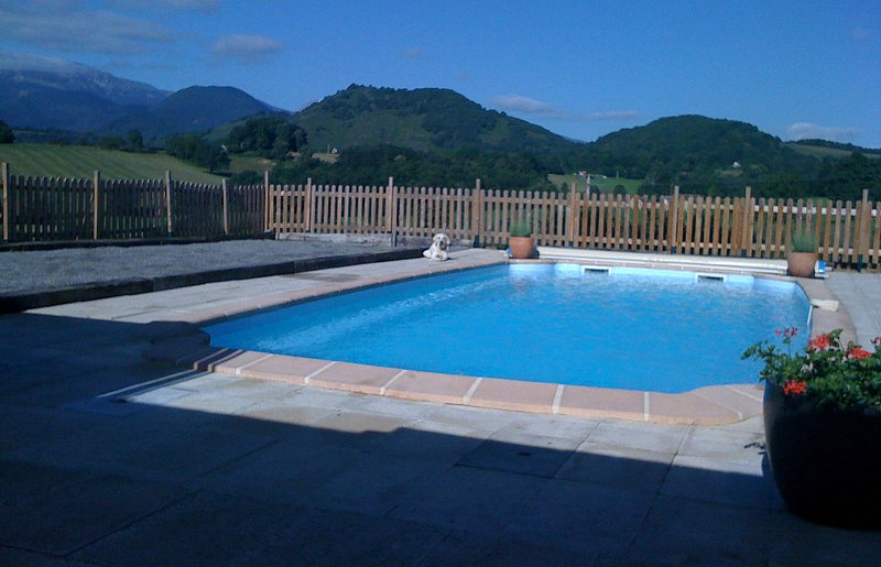 A view of the mountains from the pool.