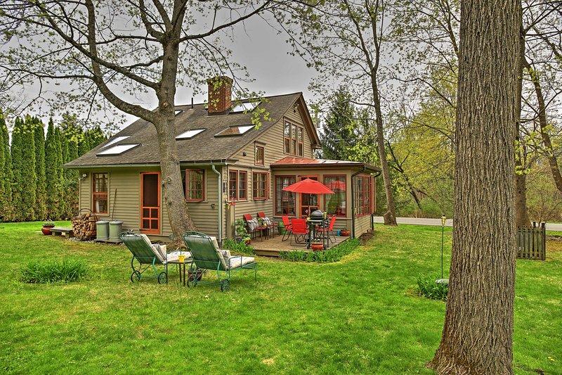 Experimenta Stockbridge desde esta casa de vacaciones de estilo colonial.