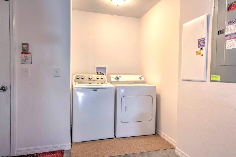Gardez vos vêtements frais avec les machines à laver en unité.