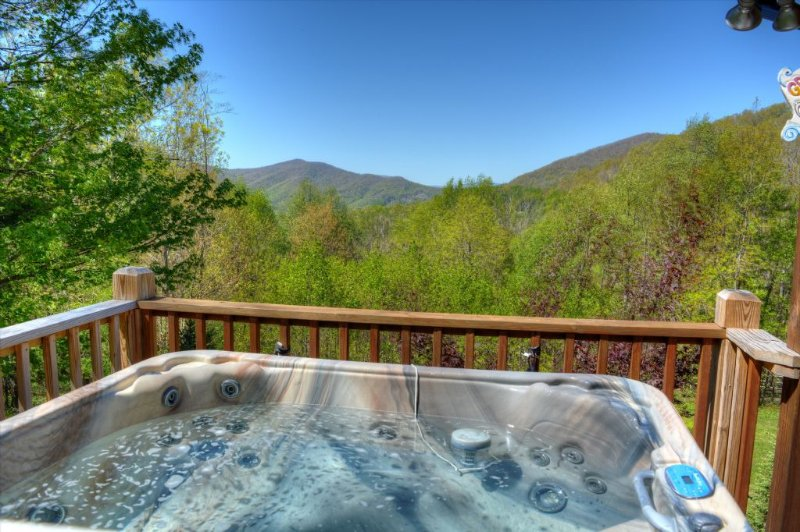 Views from our 5 person hot tub